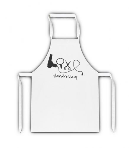 Love Hairdressing White Adult Apron